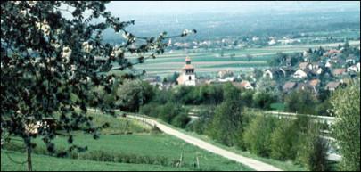 Blick auf Binzen im Markgräflerland